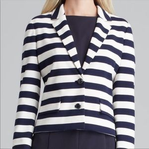 Tory Burch Augusta Navy Cream Stripe Blazer Jacket